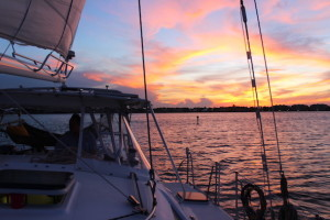 Opt for a sunset sail on the Moonraker, photo by Tracy Kaler.