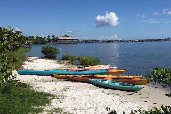 Nature-lovers can kayak on the Indian River Lagoon, photo by Tracy Kaler.