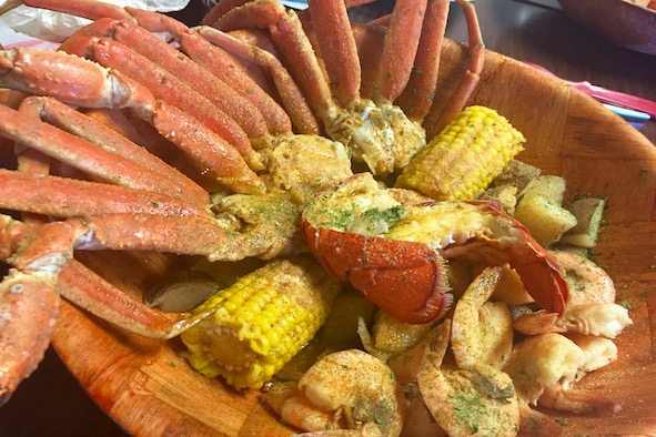 Eat local seafood at the Crab Stop, photo by Tracy Kaler.
