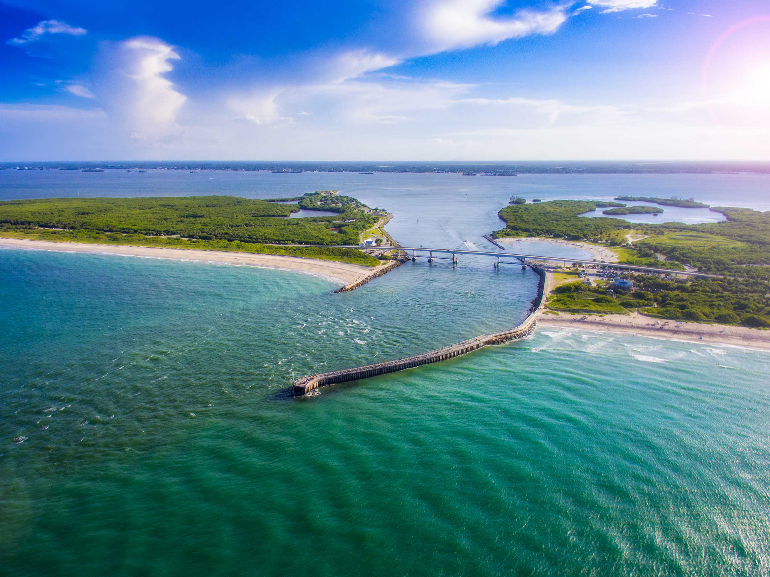 Melbourne-Beach-at-Sebastian-Inlet-Aerial-View-1