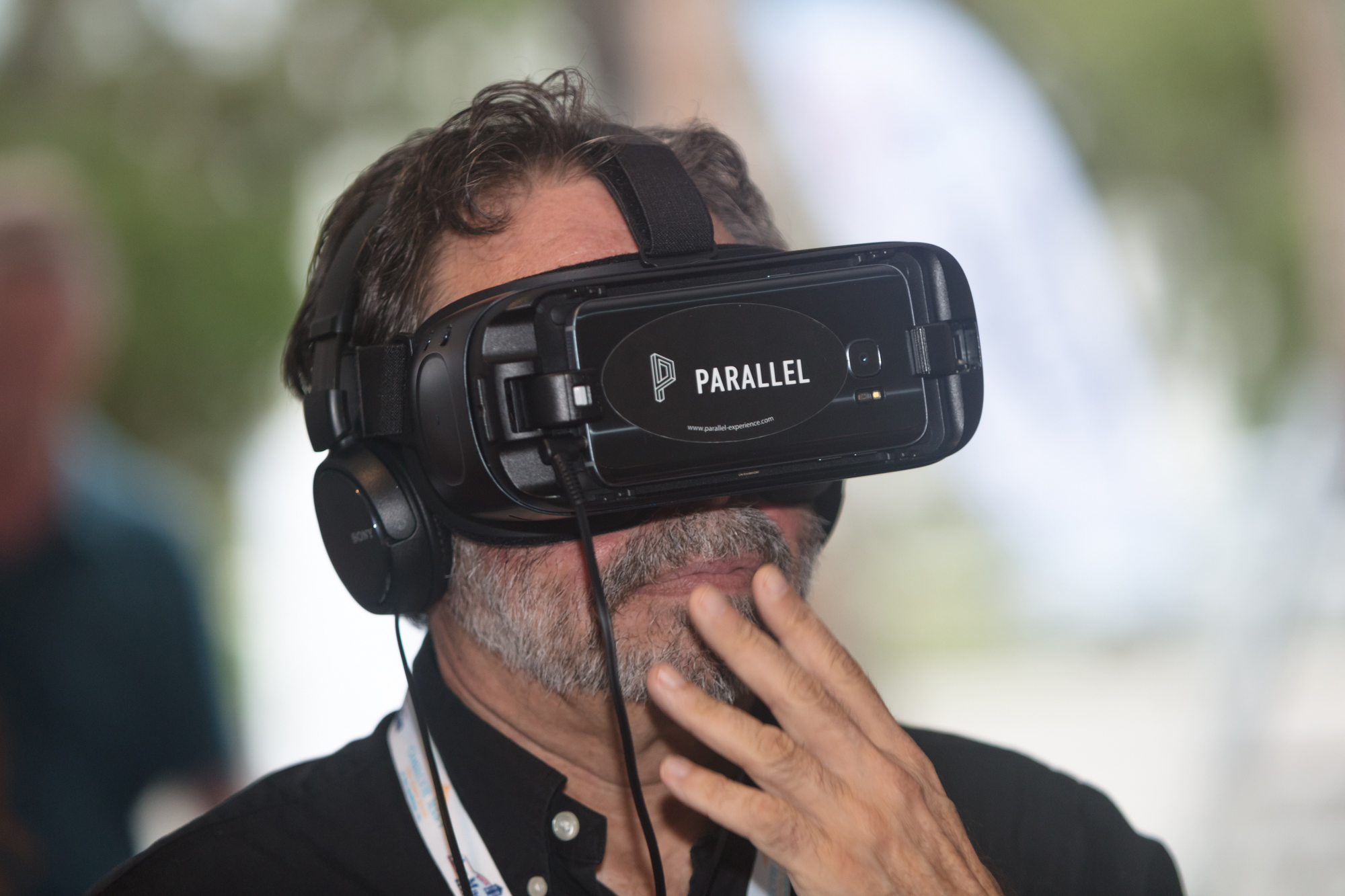 Virtual Reality film experience at Riverside Theatre photo credit Phil Reid