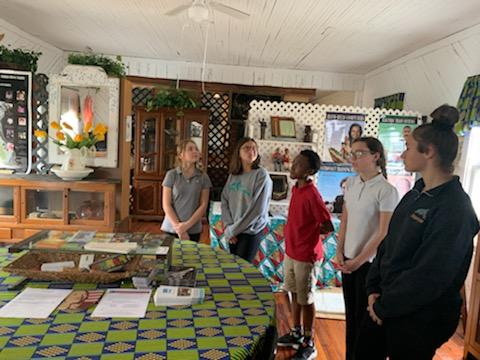 Students touring the Gifford Museum